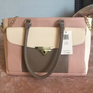 NWT Steve Madden Rose/Creme Purse